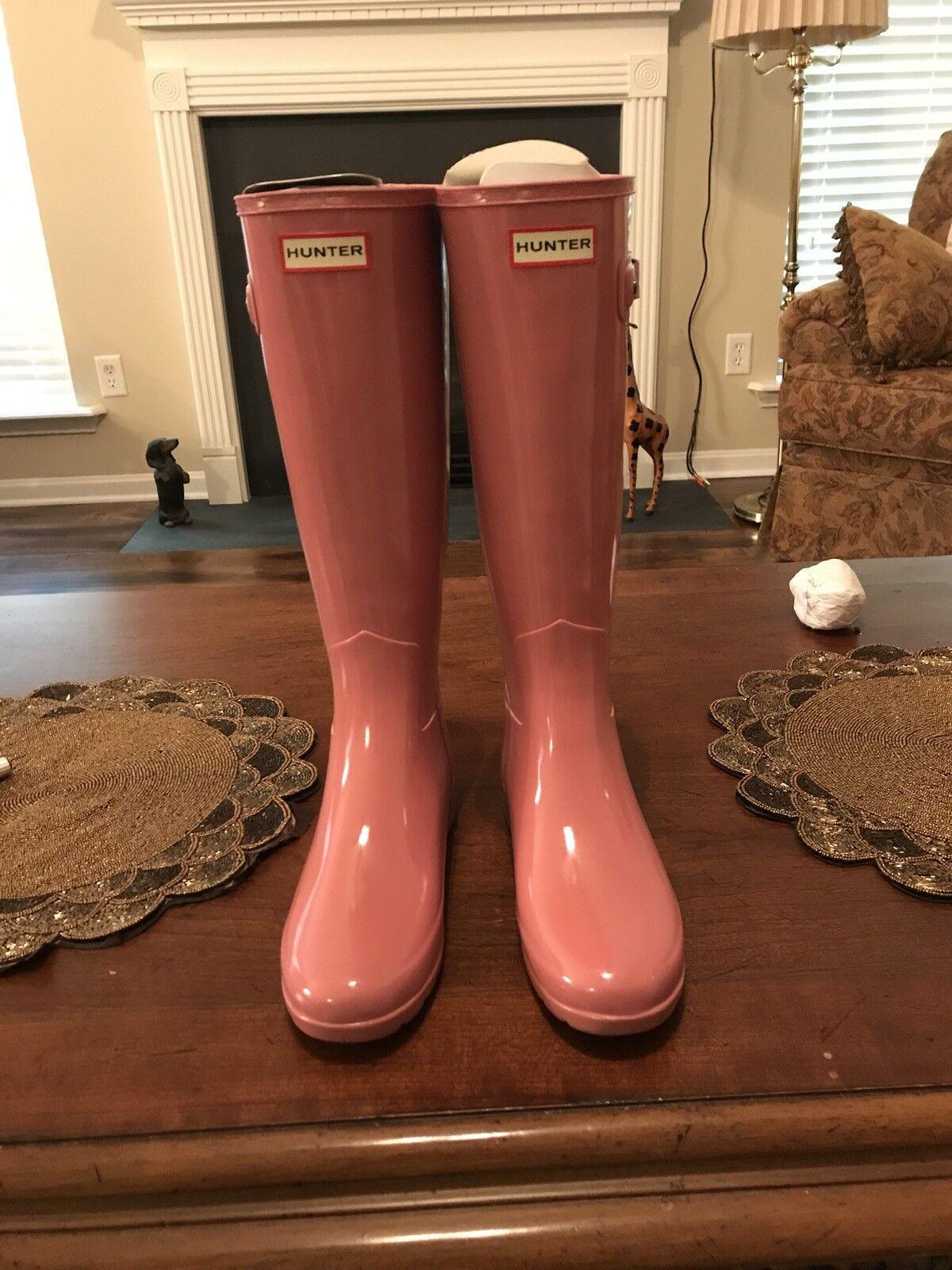 Hunter Goma Ajustable para para para Mujer Orig. atrás. botas de Lluvia Talla 5 rosado Brillante rosado Nuevo con etiquetas e70157