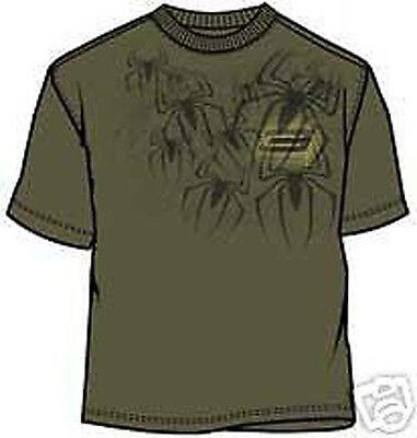 Spider Man Creepy Military Green Youth T-shirt