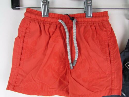NWT Vilebrequin Solid Color Classic Turtle Youth Boys Beach Shorts
