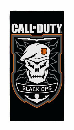 CALL OF DUTY TOWEL BLACK OPS EDITION BATH BEACH SWIMMING HOLIDAY CHILDRENS