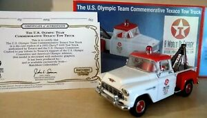 US-Olympic-team-TEXACO-TOW-TRUCK-CHEVROLET-pick-up-MATCHBOX-1-43