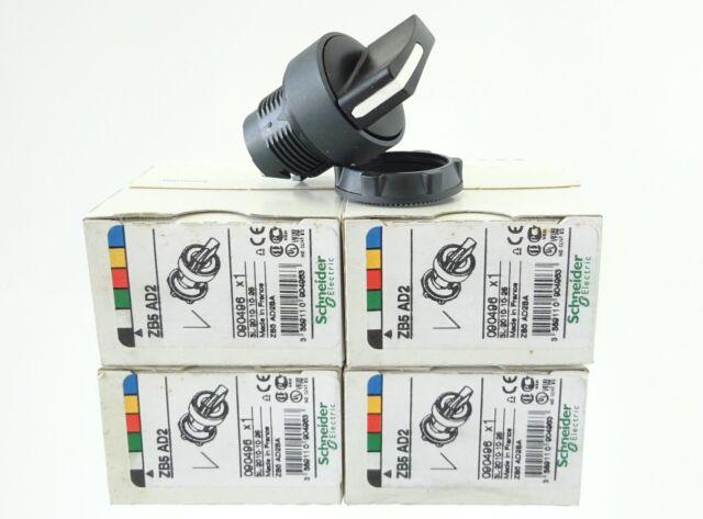 4x SCHNEIDER ZB5 AD2 Wahlschalter Knebelschalter schwarz 2-Stellng. Ø22mm 090496