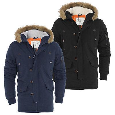 Jacken & Mäntel Herrenmode Modestil Mens Tokyo Lee Parka Parker Padded Lined Winter Jacket Faux Fur Hooded Coat Hell In Farbe