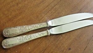 2 9 Dinner Knives Old Maryland Engraved Kirk Sons Estate Find Sterling Ebay