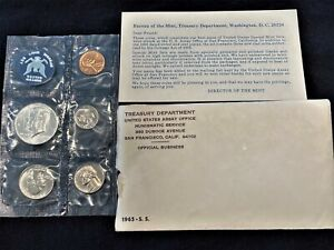1965 US UNCIRCULATED SPECIAL MINT SET (SMS) with 40% SILVER KENNEDY HALF DOLLAR