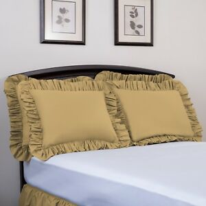 Ashton-Ruffled-Pillow-Sham-Brand-Name-Bedding-High-Thread-Count-Solid-Colors