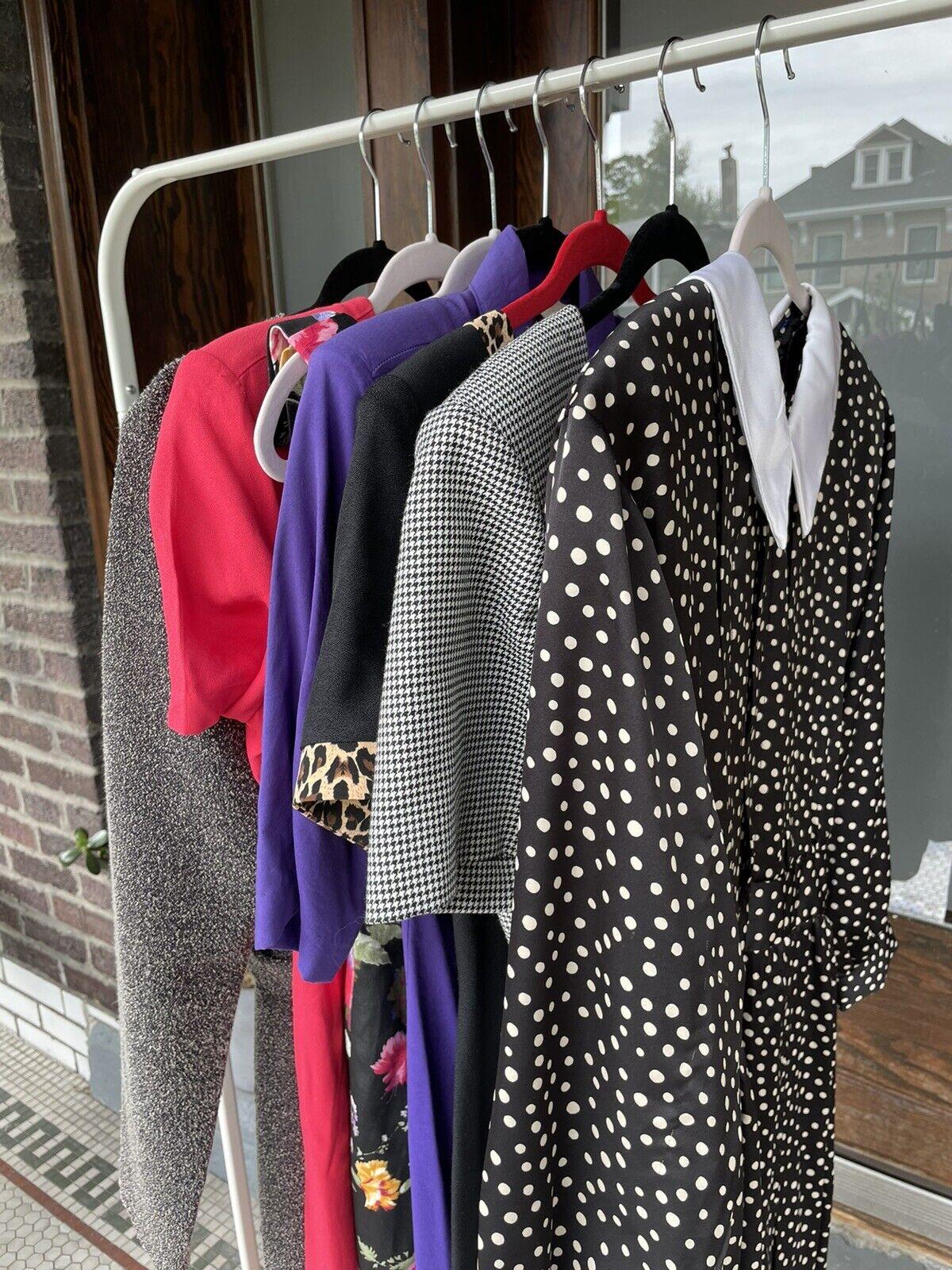 vintage dress lot 80s 90s Reseller Lot 7 Dresses … - image 1