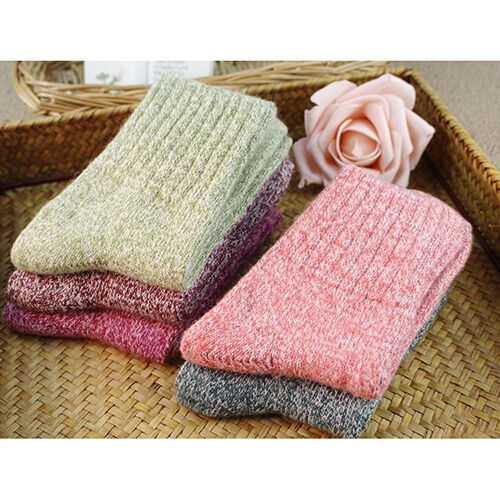 FM/_ EE/_ 5 Pairs Women Wool Cashmere Thick Warm Casual Sports Socks Winter New No