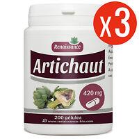 Artichaut 600 Gélules Dosées À 420 Mg