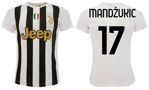 Dettagli su Maglia Mandzukic Juventus 2021 Juve ufficiale Home Mario 17 Bianconera 2020
