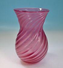 Murano Vase Archimede Seguso gerippte Struktur Opalglas in feiner Ausführung