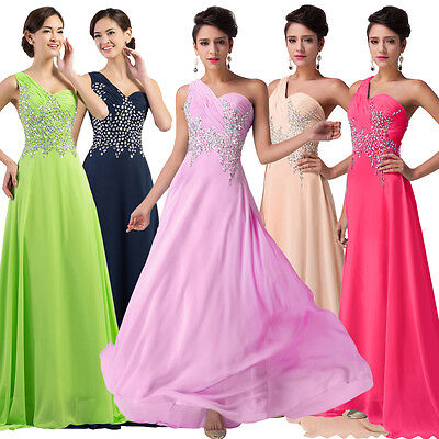 Long Bridesmaid Cocktail Prom Party Ball Gown Masquerade Formal Evening Dresses