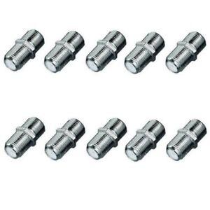 10 x f verbinder kupplung koax kabel f adapter koaxverbinder satverbinder dvb t ebay. Black Bedroom Furniture Sets. Home Design Ideas
