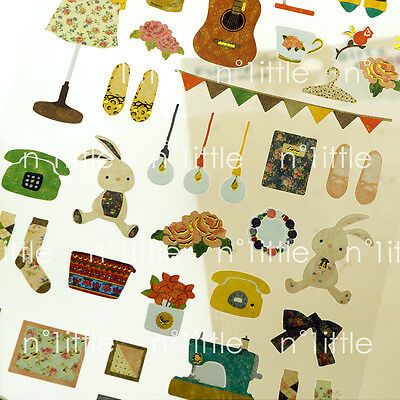 Girl's Emotion Style Transparent Diary Deco Stickers Labels Scrapbook Journal