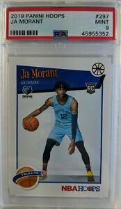 2019-20-Panini-NBA-Hoops-Ja-Morant-Rookie-RC-297-Graded-PSA-9-Mint