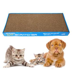 New-Pet-Cat-Mat-Scratcher-Corrugated-Board-Scratch-Pad-Toy-And-Catnip-2pcs