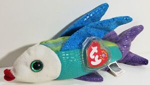 """TY Beanie Babies """"PROPELLER"""" the Flying Fish - MWMTs! RETIRED! GREAT GIFT! NEW!"""