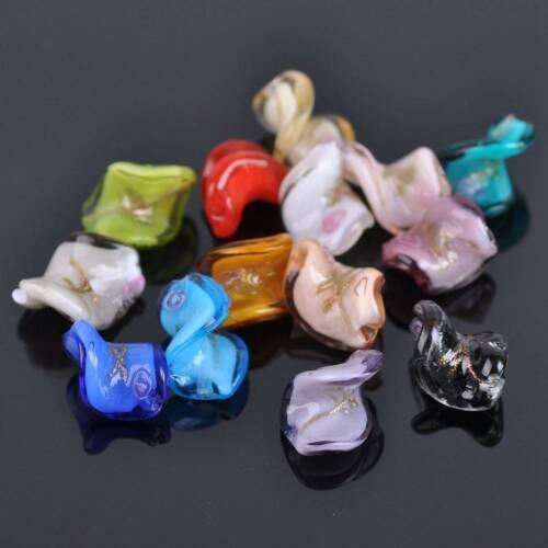10pcs 20mm Twist Floral Lampwrok Crystal Glass Handmade Loose Beads Jewelry DIY