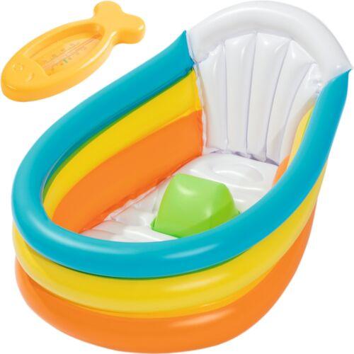Baby Kinder Badewanne (Aufblasbar) Pool Planschbecken Badepool Badesitz Wanne