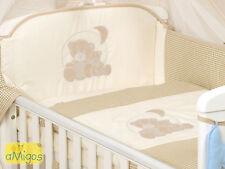 Baby Bettwäsche 5-tlg mit Applikation Bärchen Hell mit Himmel, Decke 100x135 cm