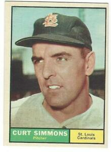 CURT-SIMMONS-1961-Topps-11-NM-MT-MLB-St-Louis-Cardinals-Vintage