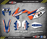 Ktm Exc 2014 - 2016 Custom Graphics Kit Force Style Style Decals / Stickers