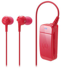 Audio-technica ATH-BT09 Bluetooth V2.1 Clip-on In-Ear Headset w/ Microphone -Red