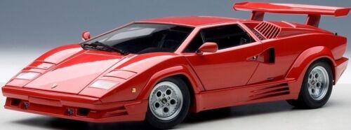 Autoart 74534-1//18 Lamborghini Countach 1988 25th Anniversary-RED-NUOVO