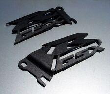 Suzuki GSXR Cut Heel Guards Plates GSX-R 600 750 1000 Black