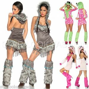 pocahontas kost m sexy monster rave kost m indianer kost m karneval indianerin ebay. Black Bedroom Furniture Sets. Home Design Ideas