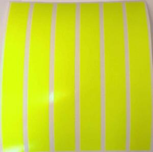 8-X-YELLOW-FLUORESCENT-STRIPS-OF-VINYL-TAPE-8-034-x-1-034-VEHICLES-ARTS-AND-CRAFTS
