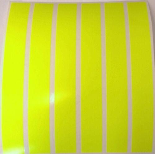 """8 x jaune fluorescent bandes de vinyle//bande 8/"""" x 1/"""" véhicules//arts et métiers."""