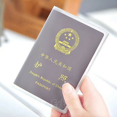 Clear Transparent Passport Cover Holder Case Organizer ID Card Travel Protector
