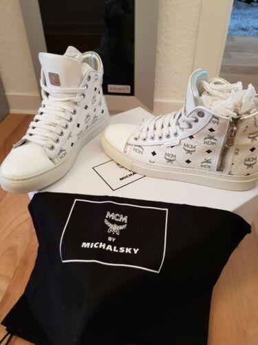 MCM Urban Nomade III cortos señora blanco talla 38 michael Michalsky