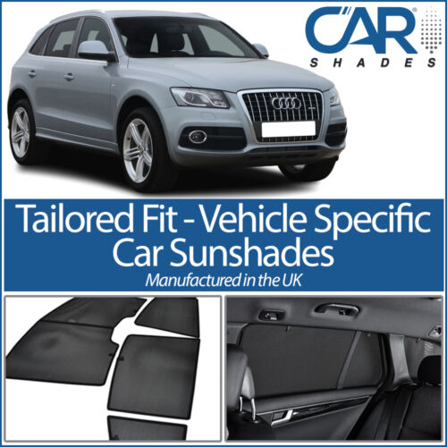 Audi Q5 8R 5dr 2008-2017 UV CAR SHADES WINDOW BLINDS PRIVACY GLASS TINT BLACK