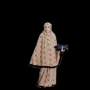 Muslim Women Long Scarf Islamic Prayer Hijab Raisa Overhead Salah Khimar Set