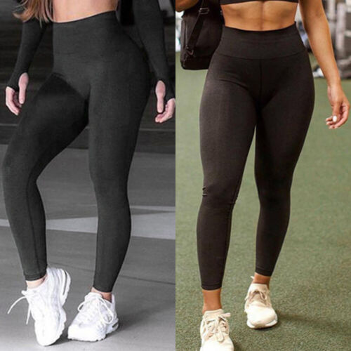 Women High Waist Seamless Yoga Pants Anti Cellulite Compression Jogging Legging