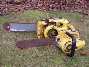 Vintage-McCulloch-250-Chainsaw-Mac-250-Go-Kart-Plus-Other-McCulloch-Chainsaw-Old