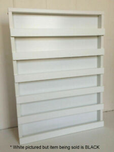 BLACK WOODEN HANGING NAIL POLISH SHELF wall rack storage stand holder display