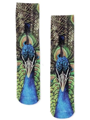 Women Peacock Socks Size 5-8 Photo Fashion Edited Body Quality Product