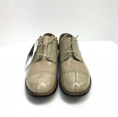 Stacy Adams Men/'s Oxford Dress Shoes Taupe Crocodile Print Madison Sizes 9D-10D