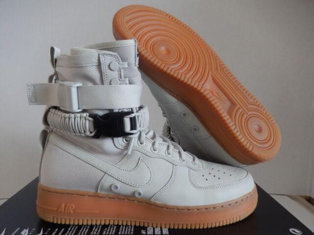 quality design 3e294 3e645 Nike SF Special Field Air Force 1 Womens Size 8 Grey Sail White Gum 857872  004