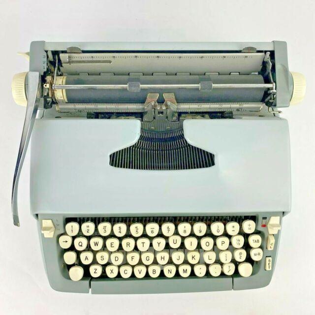 Smith Corona Sterling Typewriter Light Blue Hard Case ...