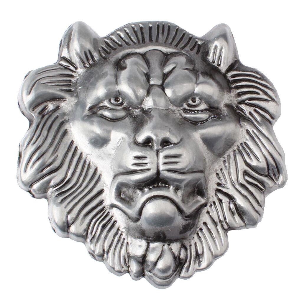 Indian Cowboys Jeans 3D Lion Head Belt Buckle Western Alloy Belt Accessory
