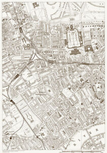 Knightsbridge London Map.Kensington Knightsbridge Chelsea Old Vintage Map London 1888