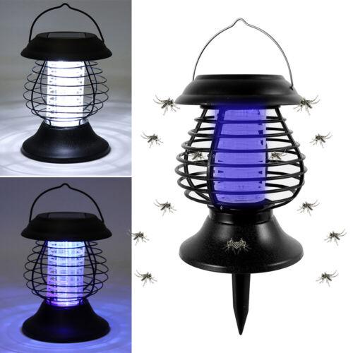 Solar Moskito Killer Insektenvernichter elektrisch LED Insektenlampe Mückenfalle