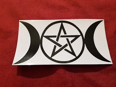 Autoaufkleber Dreifach Mond Wicca Pentakel Pentagramm Hexe Pagan Triple Moon Die Neueste Mode