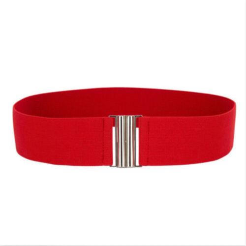Women Buckle Silver New Waist Belt Belts Elastic Waistband Stretch Corset