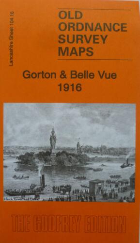Old Ordnance Survey Detailed Map Gorton /& Belle Vue  Lancashire 1916  S104.16