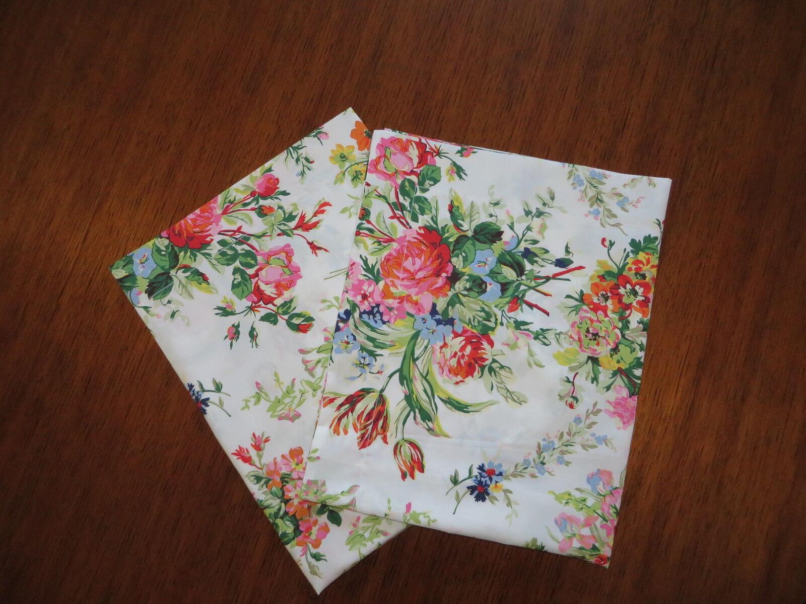 Ralph Lauren BELLE HARBOR  Floral 2 KING pillow Shams New